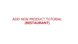 How to add new product in YMJ POS software (Restaurant)