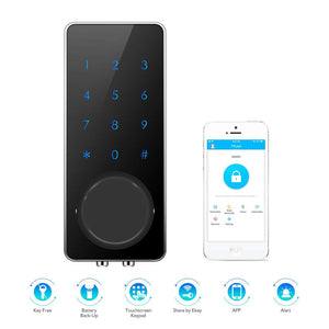 AWS 805 Keyless With Bluetooth App, Touchscreen Keypad Smart Electric Door Lock