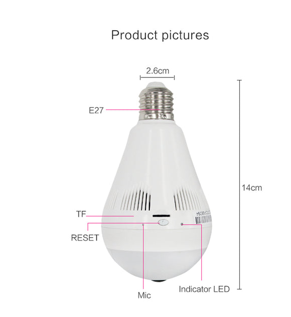 LED Light Bulb Wi-FI Camera AB13-L