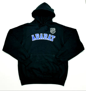 ARARAT BLACK HOODED SWEATSHIRT