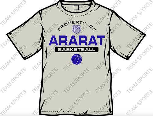PROPERTY OF ARARAT TSHIRT-BASKETBALL