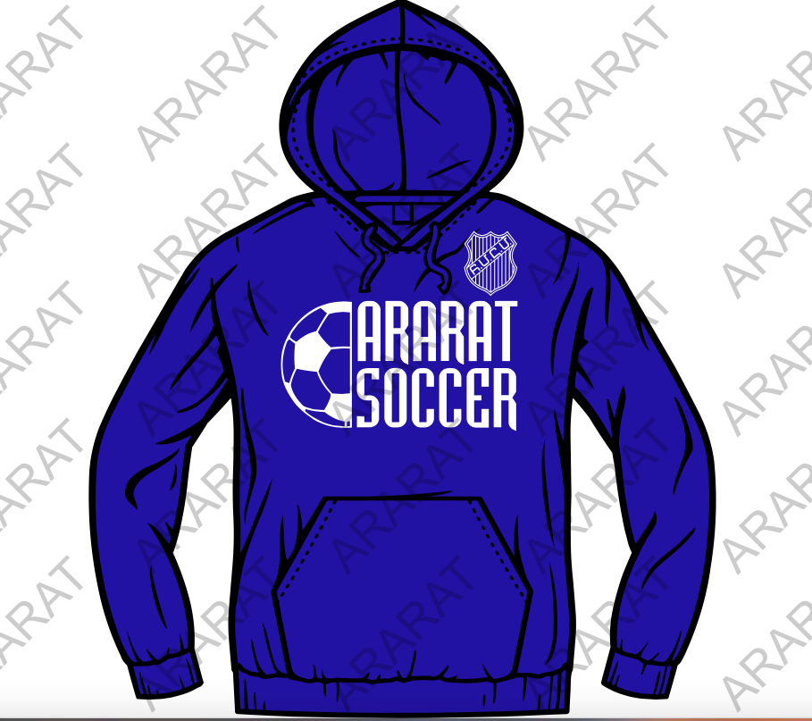 ***NEW*** ARARAT SOCCER HOODED SWEATSHIRT