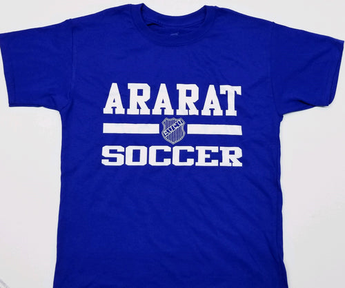 ARARAT SOCCER T-SHIRT BLUE & WHITE