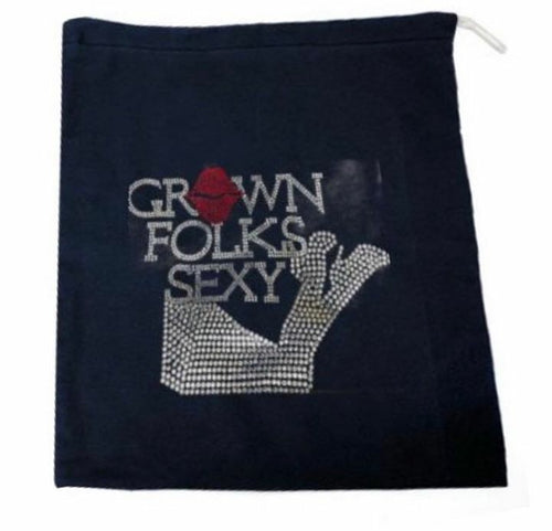 Grown Folks Sexy Bling T-Shirt & Bling Shoe Bag Set