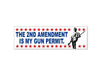 "The 2nd Amendment Is My Gun Permit (Bumper Sticker - 10"" x 3"")"