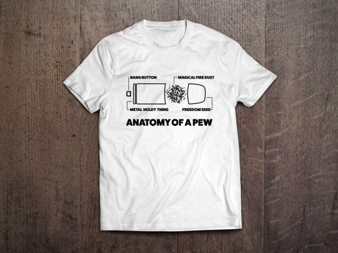 Anatomy of a Pew T-Shirt (MADE IN THE USA)