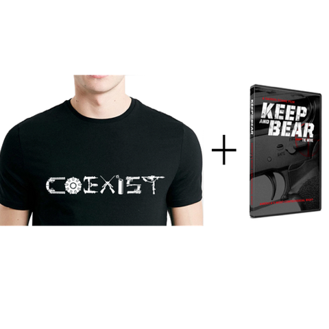 """COEXIST"" T-Shirt + Keep and Bear DVD"