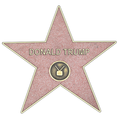 Donald Trump Hollywood Star Sticker (6x6)