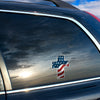 Flag Cross Decal