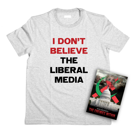 I Don't Believe Liberal Media Patriotic T-Shirt (MADE IN THE USA) + FREE DVD