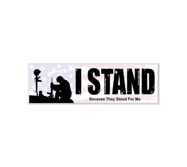 I stand bumper sticker 10 x 3 keep and bear store