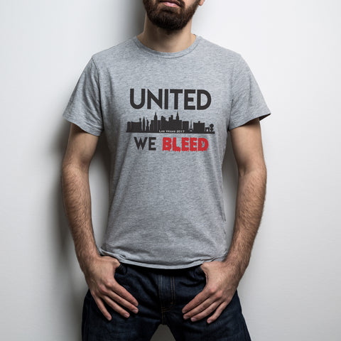 United We Bleed Patriotic T-Shirt (MADE IN THE USA)