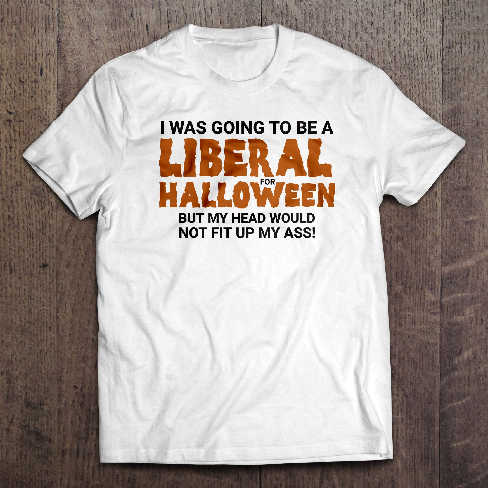 liberal for halloween conservative t-shirt (made in the usa) - keep