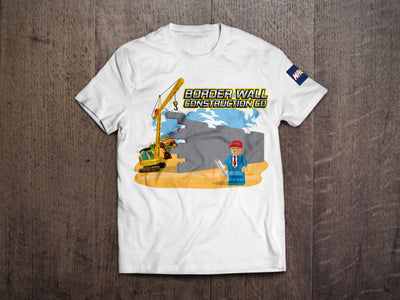 Build the Wall Construction Co. T-  (MADE IN THE USA)