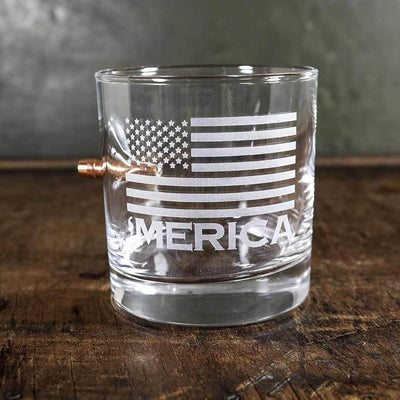 'Merica Bullet Rocks Glass (Made in the USA)