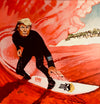 Trump Surfing Red Wave (12 x 12 Limited Edition Print)