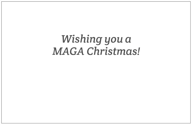 Santa Trump Christmas Card (5-Pack)!