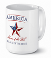 America Home of the Free ceramic coffee mug