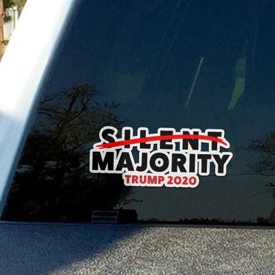 Silent Majority Trump 2020 Sticker