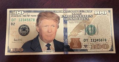 Donald Trump 100 Bill (Gold Foil Plated)