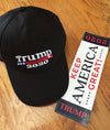BACKORDERED: TRUMP 2020 Cap & Sticker Combo