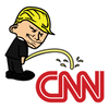 Pi$$ing Trump Badboy CNN Clear Sticker (MADE IN THE USA)