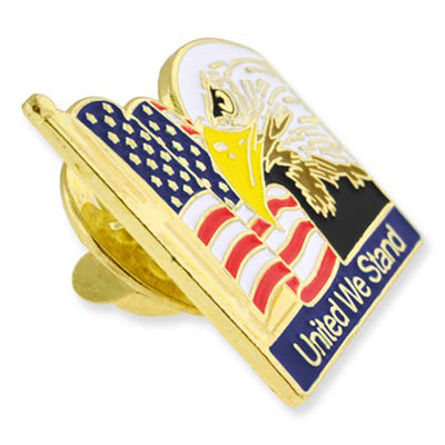 United We Stand Flag Eagle Pin