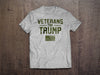 Veterans For Trump T-Shirt (MADE IN THE USA)