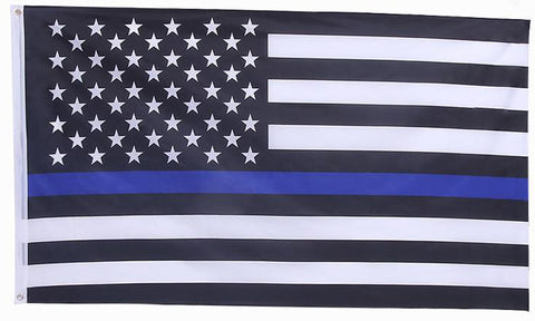 PRE-ORDER: Thin Blue Line USA Flag (3x5)