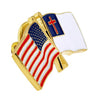 USA and Christian Flag Pin