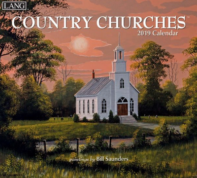 2019 Country Churches Wall Calendar