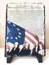 Declaration of Independence and Founding Fathers Slate