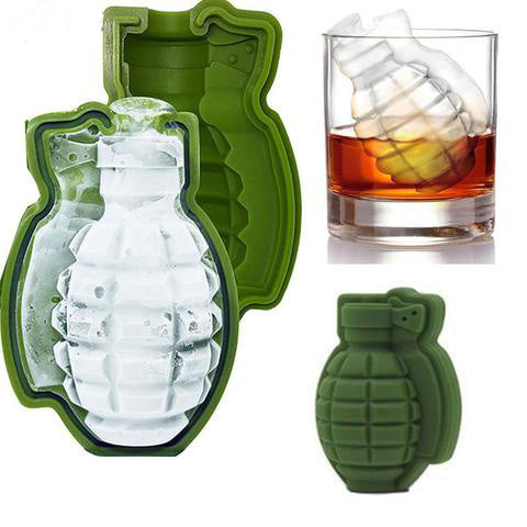 Hand Grenade Ice Molds (2 per pack)