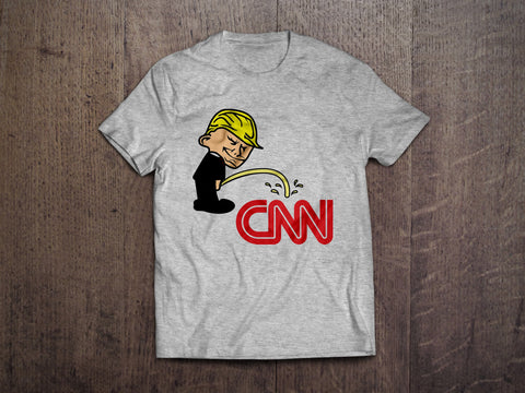 Pi$$ing Trump Badboy CNN T-Shirt (MADE IN THE USA)