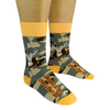 I Like Big Bucks and I Cannot Lie Camo Socks
