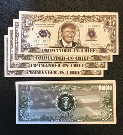 Trump Million Dollar Bill (5-Pack)