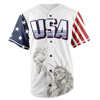White TRUMP 45 Baseball Jersey