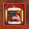 Land of The Free Brass Ornament