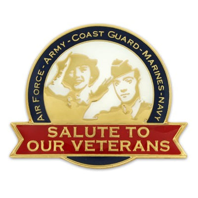 Salute To Our Veterans Pin
