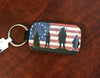 We The People Leather Key Chain
