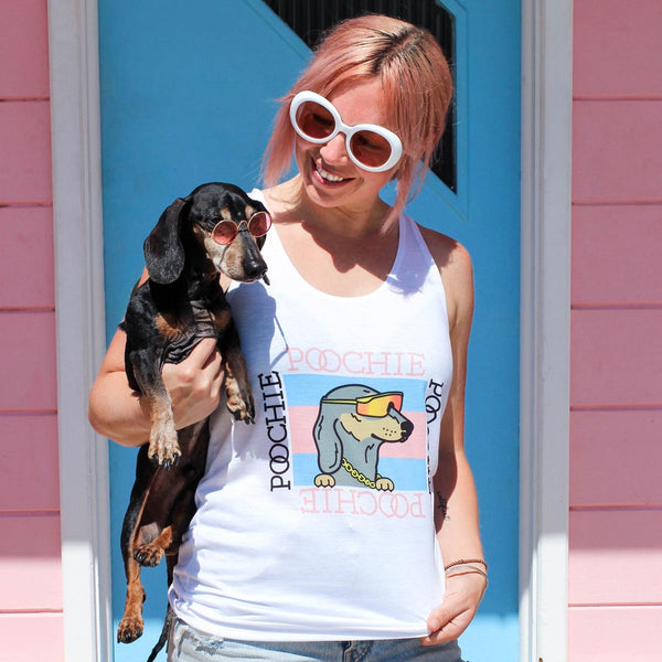 gucci poochie tank from bean goods! shop bean goods dachshund clothing today!