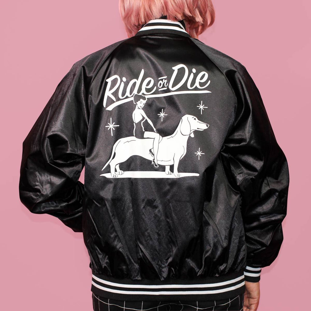ride or die dachshund jacket | dachshund clothing