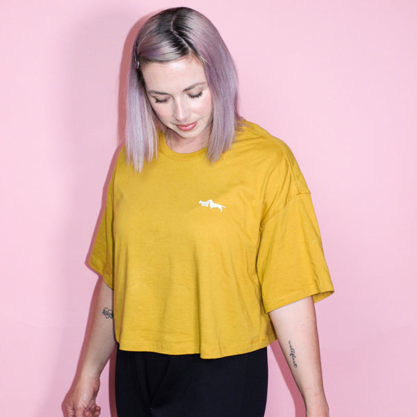 dachshund cropped tee | dachshund clothing and accessories