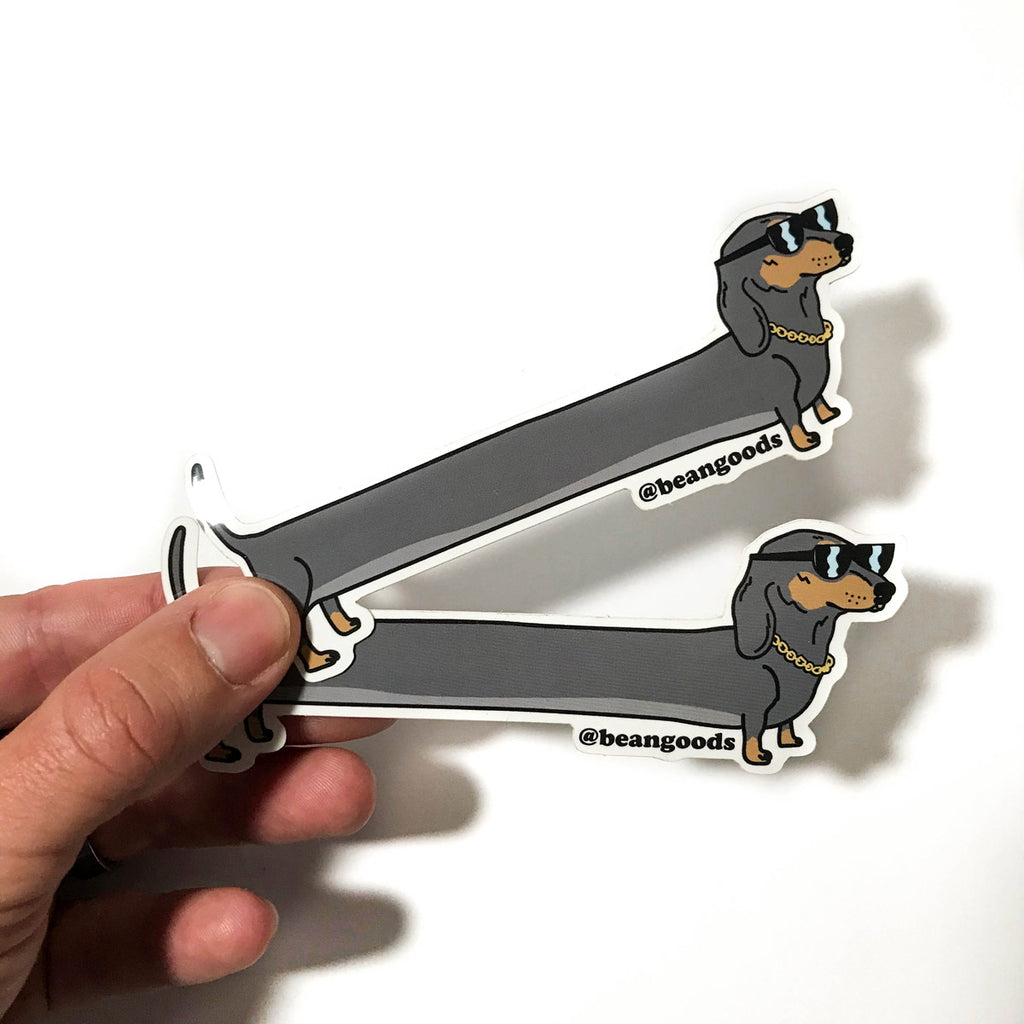 dachshund sticker by bean goods! super high quality and made to last.