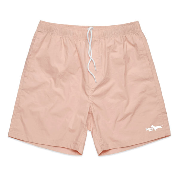 bean goods basics | men's beach shorts | pale pink - BeanGoods