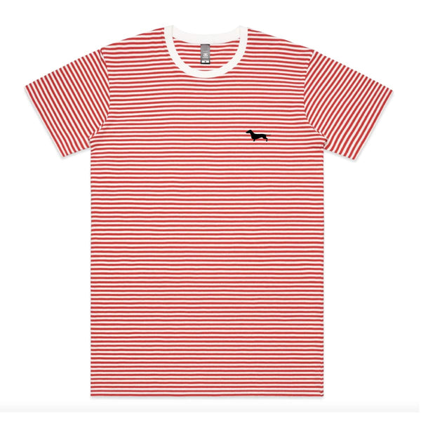 bean goods basics | unisex stripe tee (red & white) - BeanGoods