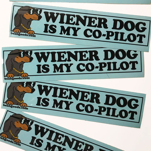 Dachshund sticker for car by BeanGoods.