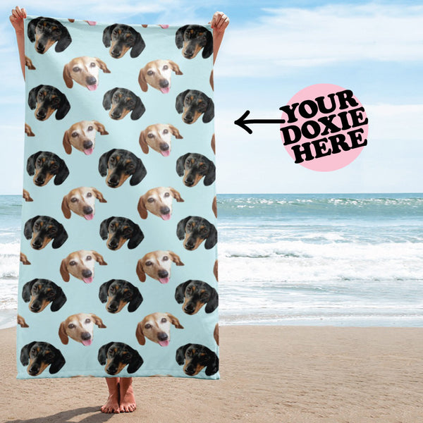 dachshund beach towel, dachshund gifts, dachshund lover gifts, personalized dachshund gifts