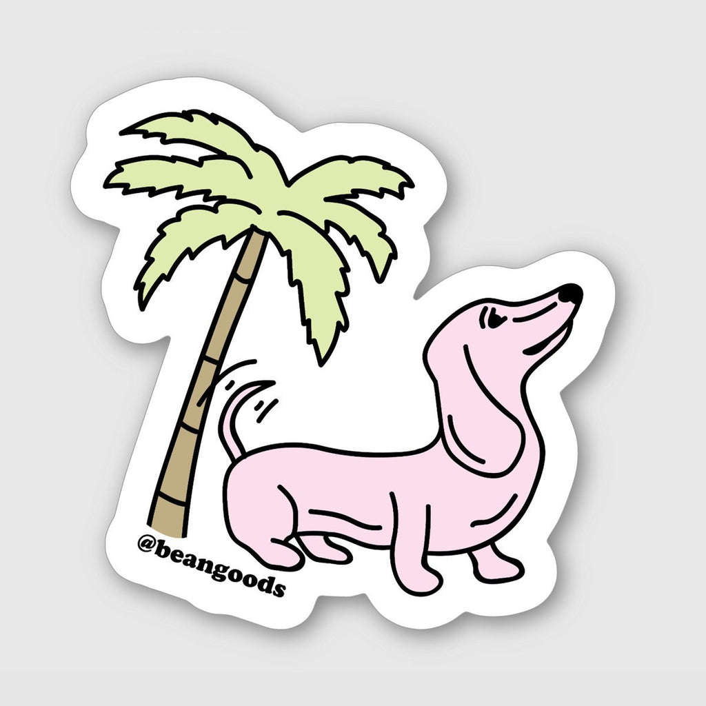 doxie palm sticker - BeanGoods