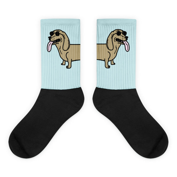 long dog socks (blue)
